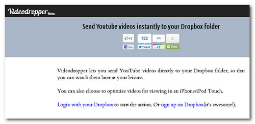 Descargar los videos de Youtube con Dropbox