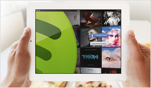 Spotify llega al iPad: Música a voluntad!