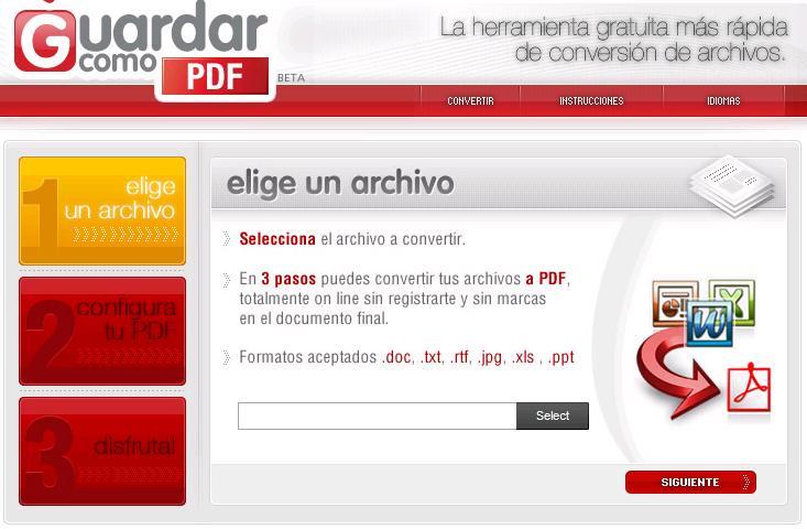 Guardar como PDF Online