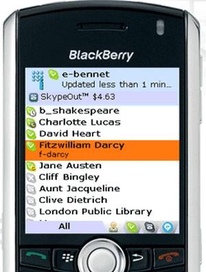 Iskoot para skype blackberry 8520
